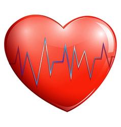 A human heart vector image