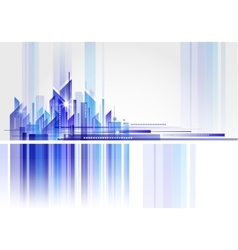 Abstract Building and City vector