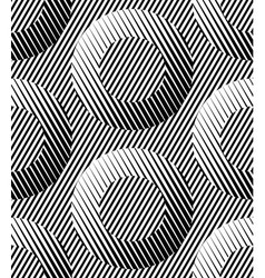 Abstract Striped Rings Geometric Seamless Pattern vector image