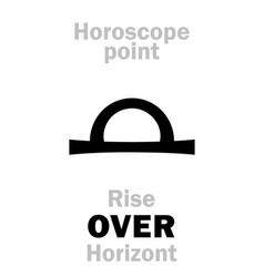 Astrology rise over horizont vector