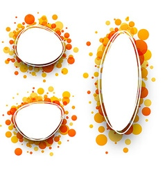 Backgrounds with orange drops vector image