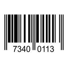 Bar code with fake numbers vector image