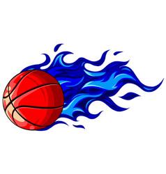 Basketball on a white vector
