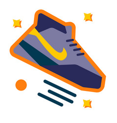 Basketball shoe simple on white vector