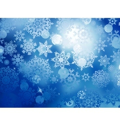 Blue Christmas background with snowflakes EPS 10 vector image