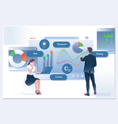 Business workflow time management planning task vector