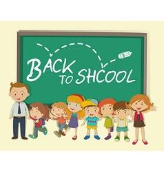 Children and teacher back to school vector image