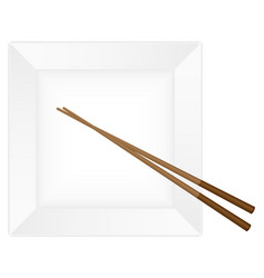 chopsticks and plate vector image