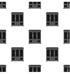 classical cupboard icon in black style isolated on vector image
