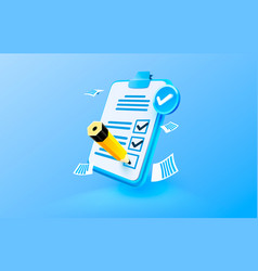 clipboard communication management service page vector image