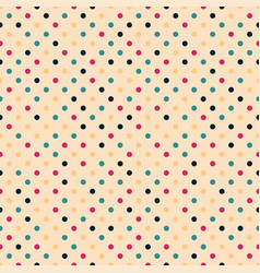 colorful seamless polka dot pattern - retro vector image