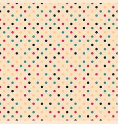 colorful seamless polka dot pattern - retro vector image