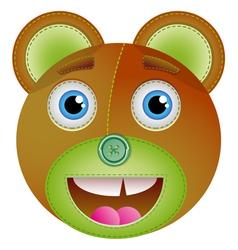 Cute bear toy vector image