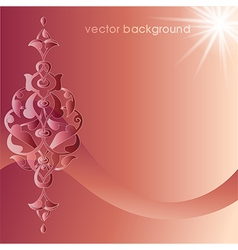 Decorative cover template sixty six vector