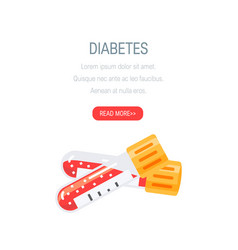 diabetes concept in flat style design vector image