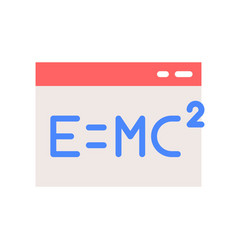 E mc in window icon online education concept vector