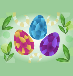 Easter decoration in optical art style colored vector