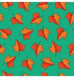 Fall leaves Seamless Pattern vector image