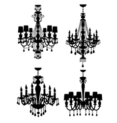 French chandeliers vector