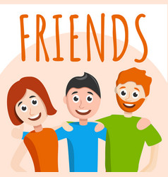 friends concept background cartoon style vector image