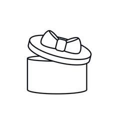 gift box celebration party line design icon vector image