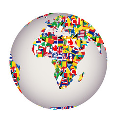 globalization concept with earth globe and all vector image