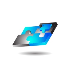 Glossy Modern Puzzle Logo vector