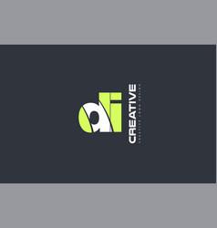 Green letter di d i combination logo icon company vector