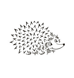 hedgehog sketch funny cartoon vector image