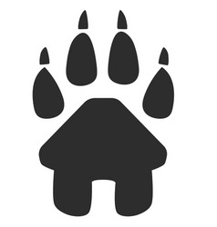 house icon and paw symbol inside vector image