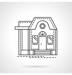 Housing flat line design icon vector image