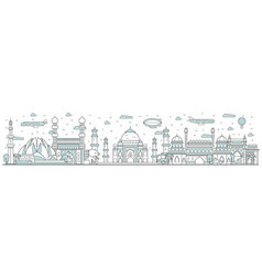 india skyline line cityscape vector image