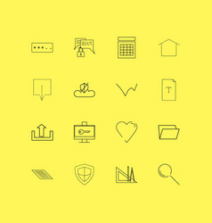internet of things linear icon set simple outline vector image