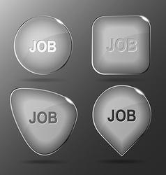 Job Glass buttons vector