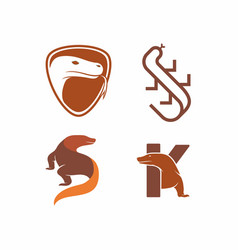 komodo dragon animal logo design vector image