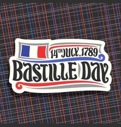 Logo for bastille day vector