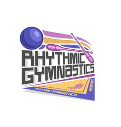 logo for rhythmic gymnastics vector image