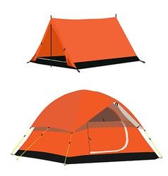 Orange tent vector