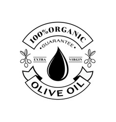 Organic olive oil 100 guarantee logo vector