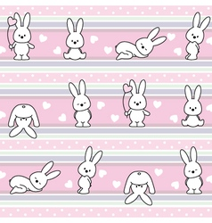 Pattern with rabbit vector