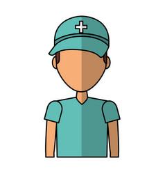 Professional surgeon avatar character vector