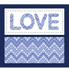purple drops chevron love text frame vector image