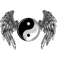 religion ying yang tao zen vector image