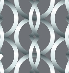 Seamless bold silver rings geometrics pattern vector image