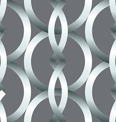Seamless bold silver rings geometrics pattern vector