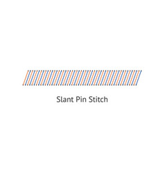 Seamless slant pun stitch brushes sewing seams vector