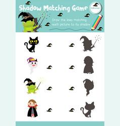 Shadow matching game halloween 11 vector