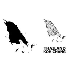 Solid and wire frame map koh chang vector