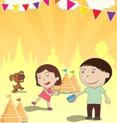 songkran festival summer thailand vector image