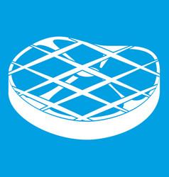 steak icon white vector image
